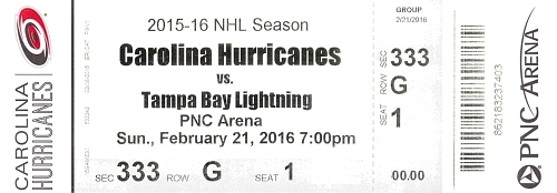 Carolina Hurricanes vs. Tampa Bay Lightning