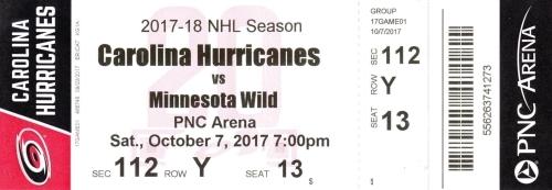 Carolina Hurricanes vs. Minnesota Wild
