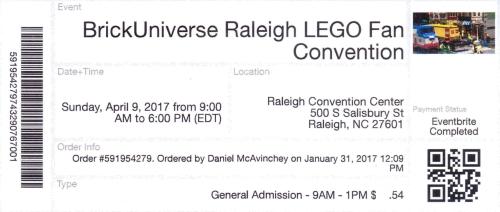 BrickUniverse Raleigh LEGO Fan Converntion