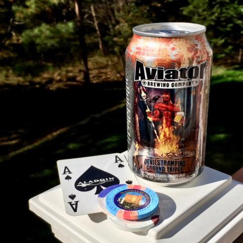 Aviator Brewing Devil's Tramping Ground Tripel Unfiltered Draft Ale