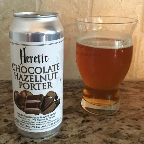 Heretic Brewing Chocolate Hazelnut Porter (16 oz)