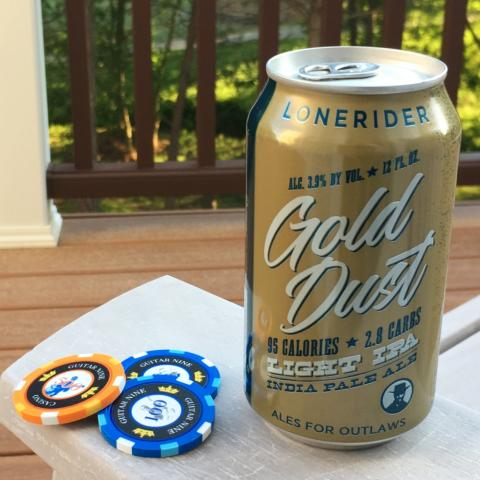 Lonerider Gold Dust Light IPA (12 oz)