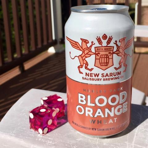 New Sarum Salisbury Brewing Hurley Park Blood Orange Wheat