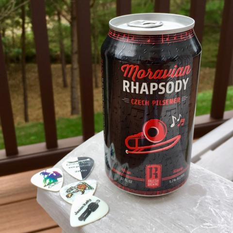 Raleigh Brewing Moravian Rhapsody Czech Pilsner