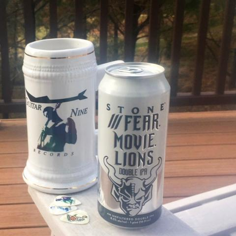 Stone Brewing Fear. Movie. Lions. Double IPA