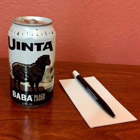 Uinta Brewing Baba Black Lager