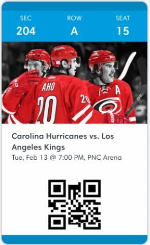Carolina Hurricanes vs. Los Angeles Kings