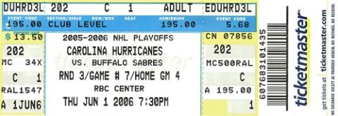 Carolina Hurricanes vs. Buffalo Sabres