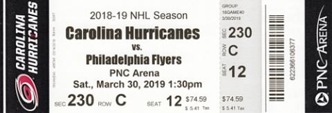 Carolina Hurricanes vs. Philadelphia Flyers