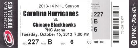 Carolina Hurricanes vs. Chicago Blackhawks