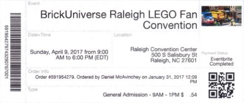 BrickUniverse Raleigh LEGO Fan Converntion