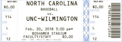 North Carolina vs. UNC-Wilmington Baseball