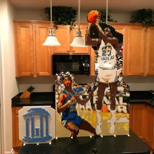 Lego Michael Jordan UNC 1982 Last Shot and UNC Old Well
