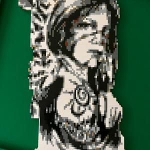 LEGO Native American Woman and Totem