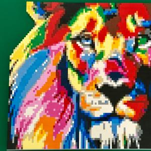 LEGO Colorful Lion