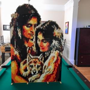 LEGO Native American Couple With Wolf Cub
